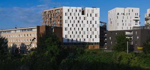 Logements collectifs et commerces porte de Valencienne à Lille